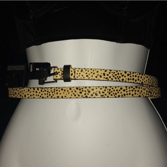 Express Accessories - Express calf hair/ genuine leather belt